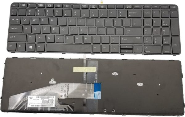 Laptop Keyboard HP ProBook 450 G3 455 G3 470 G3 Series US Layout Black Backlight Frame